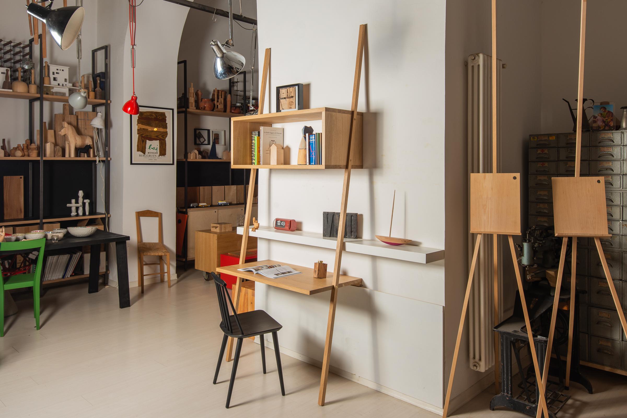 Vud scrivania legno su misura design