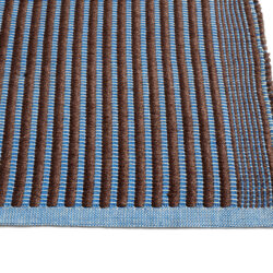 Hay Rug Tapis Chestnut and Blue - detail