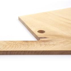 Vud Tagliere Serie F 50x27 acero dettaglio legno
