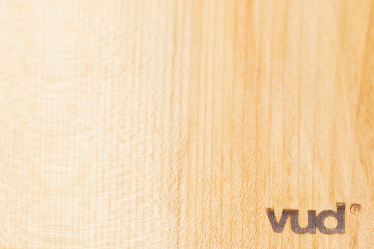 Tagliere Vud R 43x15 - acero - dettaglio acero